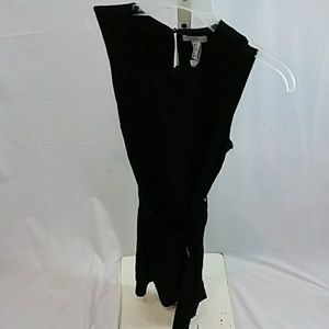 H&M Black Belted Dress Size 12 NWT